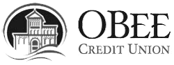 Obee credit union logo black